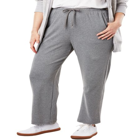 - Woman Within Plus Size Petite Sport Knit Straight Leg Pant