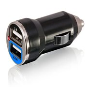 EpicDealz Dual USB Car Charger 3.1Amp 15.5W - 1.0&2.1A Smart Power Supply For Samsung Captivate Android Phone (AT&T) - Compact