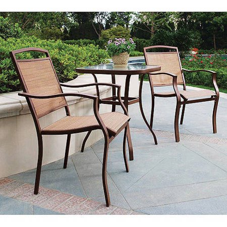 Outdoor Bistro (Mainstays Sand Dune 3-Piece Outdoor Bistro Set, Tan)