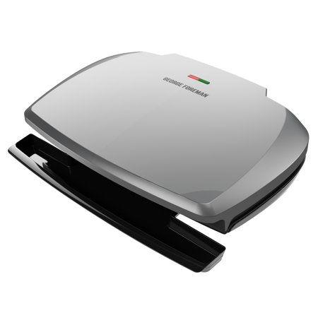 George Foreman 9-Serving Classic Plate Grill and Panini Press, Silver, (Best George Foreman Indoor Outdoor Grill)