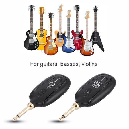 Knifun Guitar System Transmitter & Receiver,M7 Guitar Audio Transmission Set Wireless Audio Transmission Set With Receiver for Electric Guitar Bass