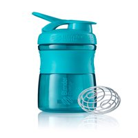 BlenderBottle 20oz SportMixer Tritan Grip Shaker Bottle with Wire Whisk BlenderBall and Carrying Loop, Teal