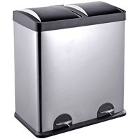 Step N' Sort 16-Gallon 2-Compartment Trash and Recycling Bin - Available in Multiple Colors.