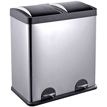 Step N' Sort 16-Gallon 2-Compartment Trash and Recycling Bin - Available in Multiple Colors. (Halloween Trailer Trash)