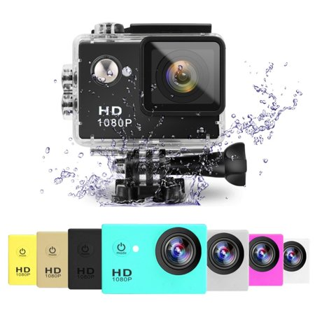 2x Black Sports Action Camera 1080p HD Waterproof with Touch Screen LCD POV Adventure Camcorder with Accessories GoPro SJCAM