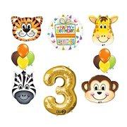 Jungle Animal Safari Third 3rd Birthday Party Supplies And Balloon Decorations