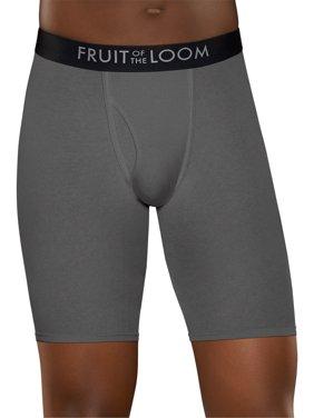 Men's Breathable Long Leg Boxer Briefs, 3 Pack