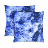 Mainstays Acid Wash Decorative Pillow, Set of 2, Blue, Multiple Colors