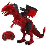 Dinosaur Planet Dragon Battery Operated Remote Control Walking Toy Dinosaur Figure w/ Shaking Head, Walking Movement, Light Up Eyes and Sounds