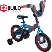 "Marvel Spider-Man 12"" Boys' EZ Build Blue Bike, by Huffy"