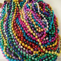 72 Multi-Color Mardi Gras Beads Necklaces Party Favors 6 Dozen Lot