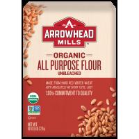 (2 Pack) Arrowhead Mills Organic Unbleached All-Purpose Flour, 5 lb.