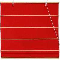 Cotton Roman Shades, Red