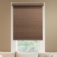 """Chicology Deluxe Free-Stop Cordless Roller Shades, No Tug Privacy Window Blind, Felton Truffle (Privacy & Natural Woven) - 20""""W X 72""""H"""