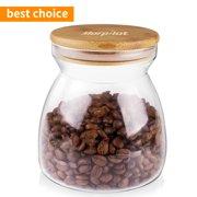 Morpilot Wide Mouth Glass Storage Jars 25 Oz. with Lids for Tea Coffee Sugar Biscuit Storage, Clear Glass Food Storage Jar