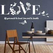 ... Room Bedroom Decor. Product Image. Outgeek Romantic LOVE Letters Wall Stickers Wall Stickers Art 3D Removable Mirror Stickers for Home Living