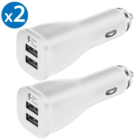 2 Pack Original Samsung Dual Port USB Adaptive Quick Charge Car Charger Rapid Charge OEM Car Charger For Apple iPhone X iPhone 8 Plus Samsung Galaxy S8 S9+ Plus Note 9 Note 8 LG G7 Google Pixel 2 (Chocolate Rapid Car Charger)