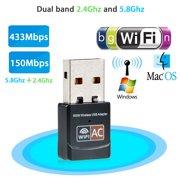 600Mbps Dual Band Mini Wireless 2.4GHz 5GHz USB WiFi Adapter USB Lan Wireless Network 802.11ac/a/b/g/n Dongle