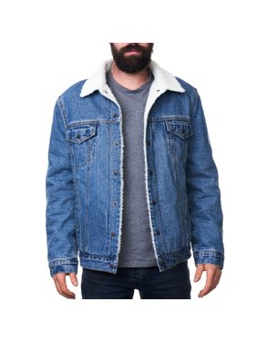 91517ab6487a Product Image Alpine Swiss Mens Sherpa Lined Denim Jacket Classic Button Up  Jean Trucker Coat