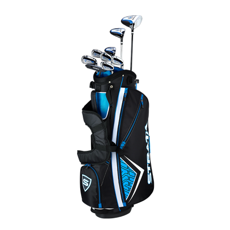 Callaway Men's Strata '19 Complete 12-Piece Steel Golf Club Set with Bag, Right Handed Adams Golf Golf Club