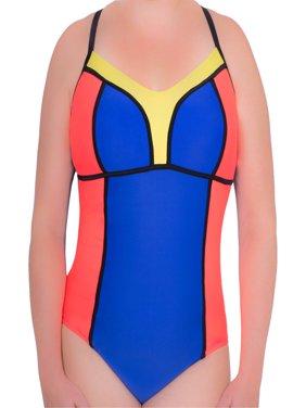 7b873e64f09 Product Image Women s Plus-Size Neoprene Caged One-Piece Swimsuit. Donatella  Sport