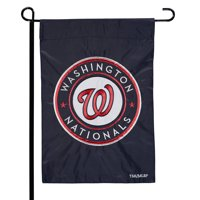 "Washington Nationals 12.5"" x 19"" Applique Double-Sided Garden Flag - No Size"
