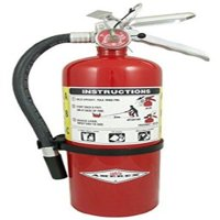 Amerex B500, 5lb ABC Dry Chemical Class A B C Fire Extinguisher with arrow sign