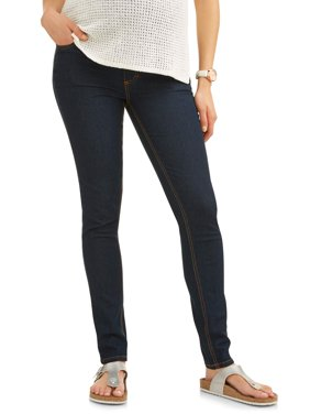 Full-Panel Super Soft Skinny Maternity Jeans -- Available in Plus Sizes