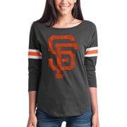 090c58388 Women s New Era Black San Francisco Giants Scoop Neck 3 4-Sleeve T-