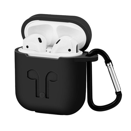 Waterproof Silicone Case Cover Protective Skin for Airpods Charging Case with Carabiner Keychain Belt Clip Critic Aid Skin Paste Case