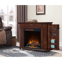 Prokonian 37 inch Mantel Electric Fireplace Heater in Cherry