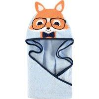 Hudson Baby Woven Terry Animal Hooded Towel, Nerdy Fox