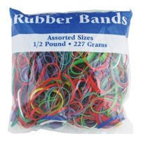 BAZIC Assorted Size and Color Rubber Bands - 227 grams