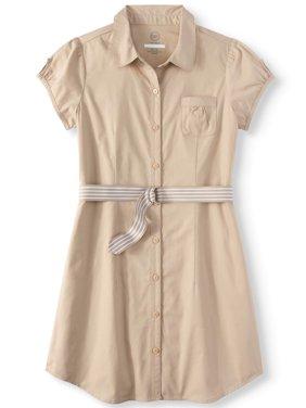 Wonder Nation Girls' School Uniform Shirt Dress