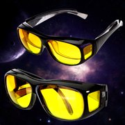 11a4b9867d0 2PCS HD Lenses Unisex Yellow Sunglasses UV Protection Goggle For Night  Vision Driving Sports Eyewear