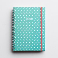 DaySpring  -  Mint Green Polka Dot - 2019 Monthly/Weekly Planner