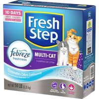 Fresh Step Multi-Cat Scented Litter with the Power of Febreze, Clumping Cat Litter, 14-lb