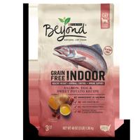 Purina Beyond Indoor Grain Free Salmon, Egg & Sweet Potato Recipe Adult Dry Cat Food - 3 lb. Bag