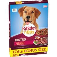 Kibbles 'n Bits Bistro Oven Roasted Beef Flavor Dog Food, 17.6-Pound