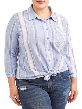 Women's Plus Size Woven Shirt