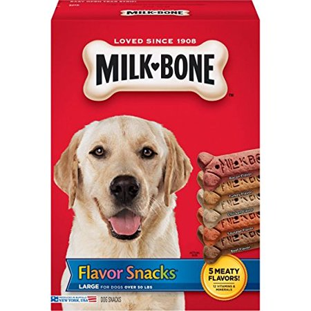 - Milk-Bone Flavor Snacks Dog Biscuits, Large, 60 Oz.
