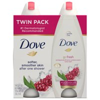 Dove go fresh Pomegranate and Lemon Verbena Sulfate Free Body Wash, 22 oz, Twin Pack