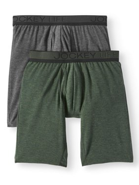 Product Image Jockey Life Men s Eco Outdoor Gear Long-Leg Boxer Brief - 2  pack 6d771c87c5e