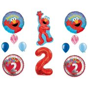 Elmo 2nd Birthday Party Balloons Decoration Supplies Second Sesame Street
