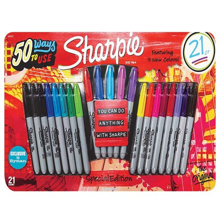 Sharpie Ultra Fine Tip Marker - Sharpie The Original Fine Permanent Marker, 21 pack