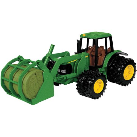 John Deere Toy Tractor Set, 7220 Tractor & Bale Mover, 1:16 Scale - Toy Clearance