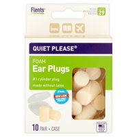 Flents Plugs Quiet Please! Foam Ear, 10 Pr