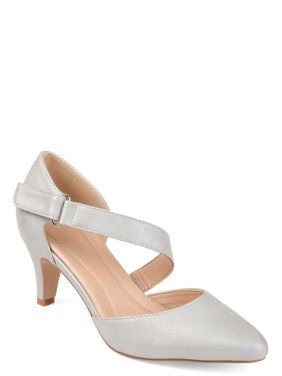 Brinley Co. Womens Comfort-sole D'orsay Cross-strap Pumps