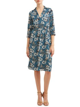 Women's Collared Midi Dress