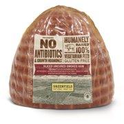 GreenField Uncured Antibiotic Free Sliced Ham, 1.0-1.5 lb